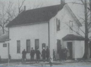 Original church building, on Highland Road
