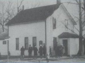Original church building, on Highland Road