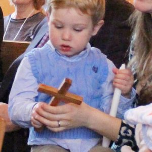 child with cross