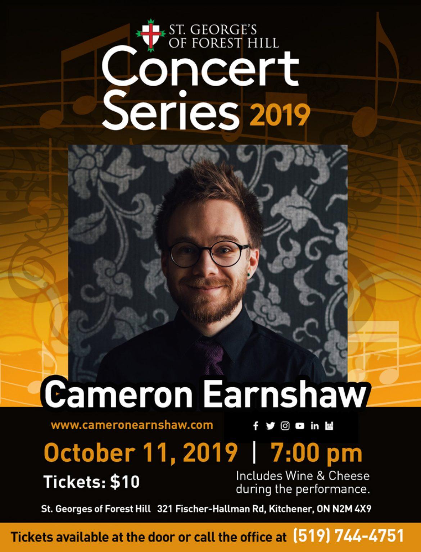 Concert Series 2019 – Cameron Earnshaw
